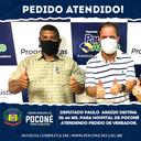DEPUTADO DESTINA 60 MIL PARA HOSPITAL A PEDIDO DE VEREADOR